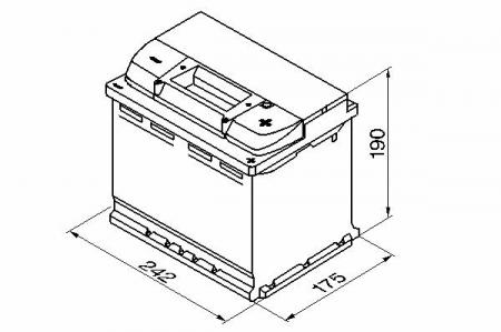 BOSCH Аккумулятор S4 12V 60Ah 540A оп Silver