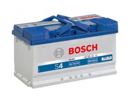 Аккумуляторная батарея Bosch S4 Silver, 12 В, 80 А/ч, 740 А, 0092S40110