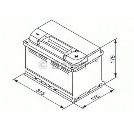 Аккумуляторная батарея Bosch S5 EFB, 12 В, 75 А/ч, 730 А, 0092S5E100