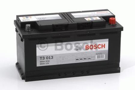 Аккумуляторная батарея Bosch T3, 12 В, 88 А/ч, 680 А, 0092T30130