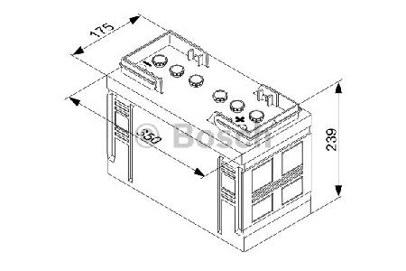 Аккумуляторная батарея Bosch T3, 12 В, 90 А/ч, 540 А, 0092T30310