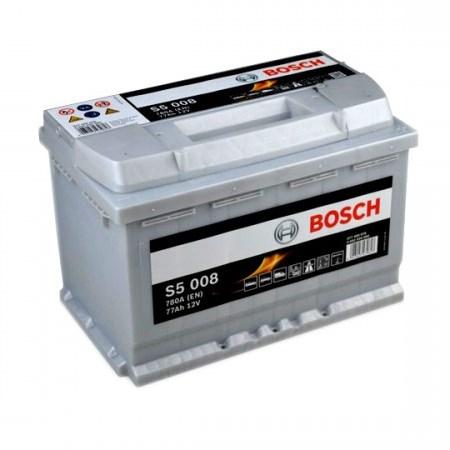 Аккумуляторная батарея Bosch S5 Silver Plus, 12 В, 77 А/ч, 780 А, 0092S50080