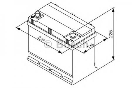 Аккумуляторная батарея Bosch, 12 В, 45 А/ч, 300 А, 0180654527