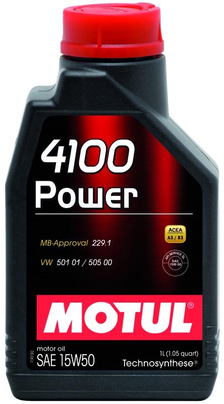 Моторное масло MOTUL 4100 POWER, 15W-50, 1л, 102773