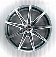 Колесный диск 4go 9003 6.5x16/5x114,3 D67.1 ET40 тёмно-серый с алм.обр.лиц.поверх (GMMF)