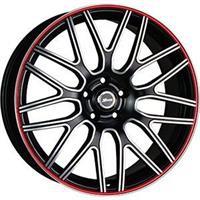 Колесный диск X-Race AF-01 6.5x16/5x114,3 D57.1 ET45 черный матовый полированный с красной полосой п