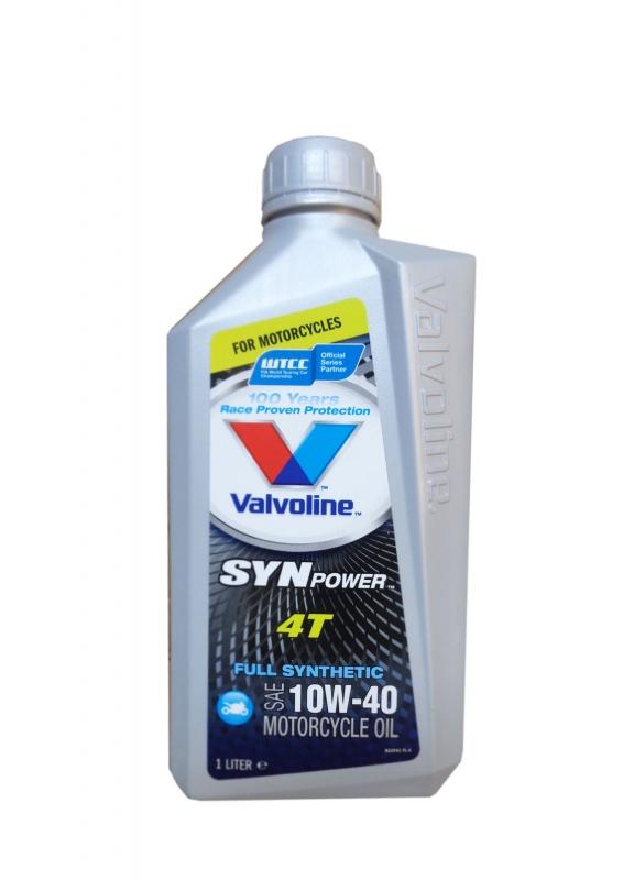 Моторное масло VALVOLINE SynPower 4T, 10W-40, 1л, VE14000