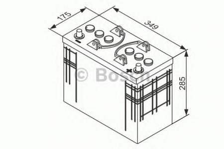 Аккумуляторная батарея Bosch T3, 12 В, 125 А/ч, 720 А, 0092T30400