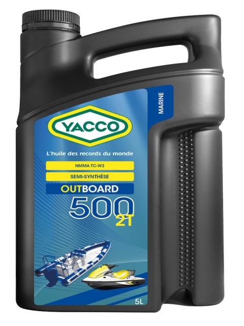 Масло для современных 2-х тактных подвесных двигателей и двигателей гидроциклов YACCO OUTBOARD 500 2