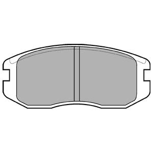 Колодки дисковые, DELPHI, LP736