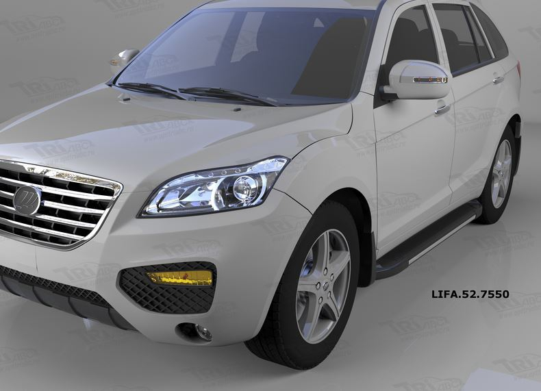 Пороги алюминиевые (Onyx) Lifan X60 (2011-), LIFA527550