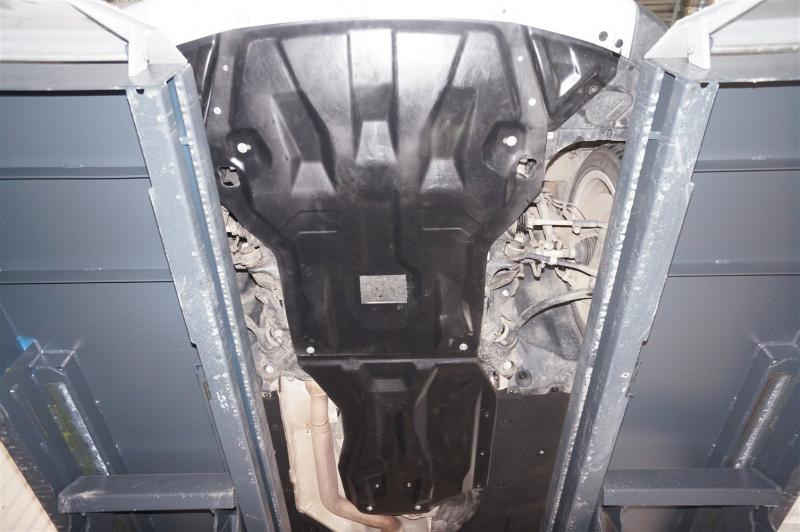 Защита картера двигателя и кпп BMW X1 задний привод V-1,8; 2,0TD (2011-2015) из 2-х частей (Композит