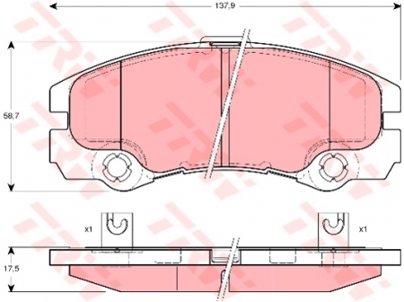 Колодки дисковые Передние, TRW, GDB1436