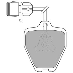 Колодки дисковые, DELPHI, LP1463