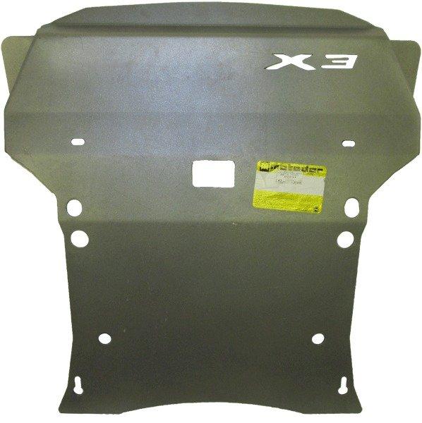 Защита картера двигателя, КПП, РК, радиатора BMW X3 кузов F25 2010- V=3,0TD, 2,8i (алюминий 5 мм), M