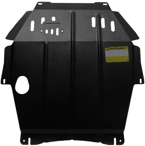 Защита картера двигателя, КПП Mitsubishi Outlander III 2012- V=2,0, 2,4 (сталь 2 мм), MOTODOR01339