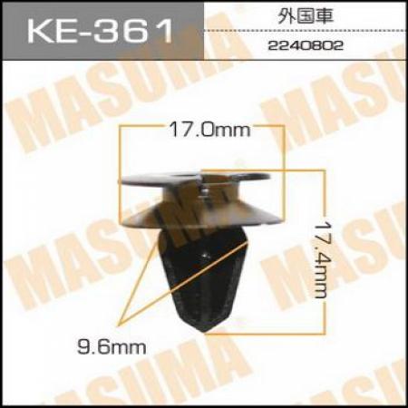 Клипса автомобильная (автокрепеж) MASUMA, KE361