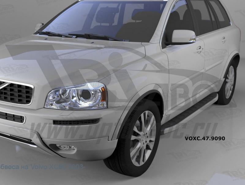 Пороги алюминиевые (Alyans) Volvo (Вольво) XC90 (2006-2015), VOXC479090