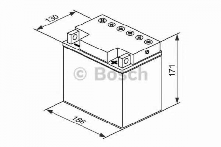 Аккумуляторная батарея Bosch, 12 В, 25 А/ч, 220 А, 018005250F