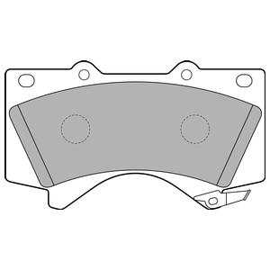 Колодки дисковые, DELPHI, LP2134