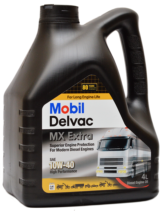 Моторное масло Mobil DELVAC MX EXTRA, 10W-40, 4л