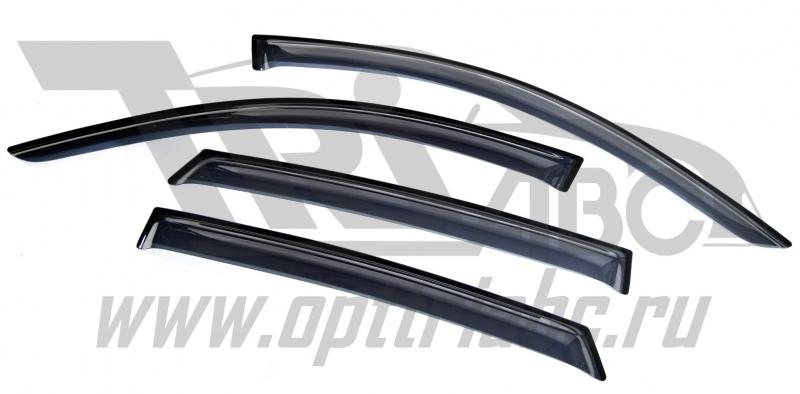 Дефлекторы боковых окон BMW X6 E71 (2008-) 4дв (темный), SBMWX60832