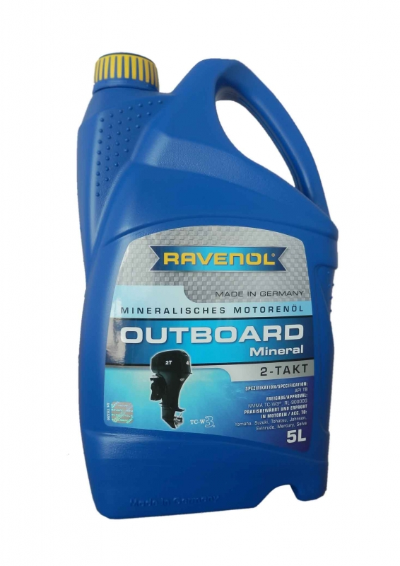 Моторное масло RAVENOL Outboard 2T Mineral, 5л, 4014835728950