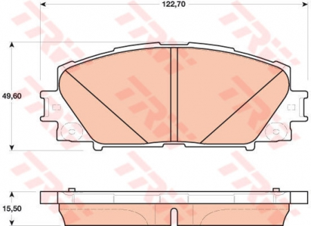 Колодки дисковые Передние, TRW, GDB4173