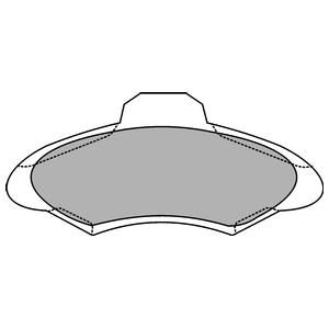 Колодки дисковые, DELPHI, LP1139