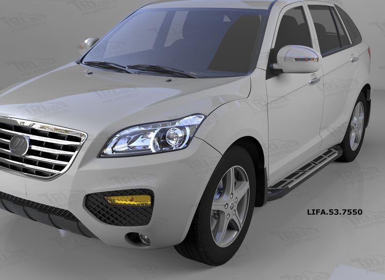 Пороги алюминиевые (Corund Silver) Lifan X60 (2011-), LIFA537550
