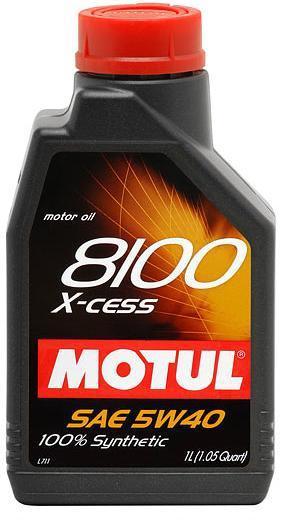 Моторное масло MOTUL 8100 X-CESS, 5W-40, 1л, 100231