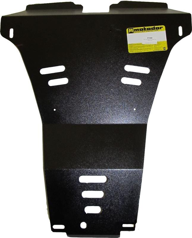 Защита заднего бампера Nissan X-Trail II 2007-2014V= все (сталь 2 мм), MOTODOR01440
