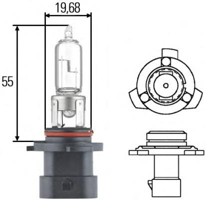 Лампа, 12 В, 60 Вт, HB3A, P20d, HELLA, 8GH 005 635-161