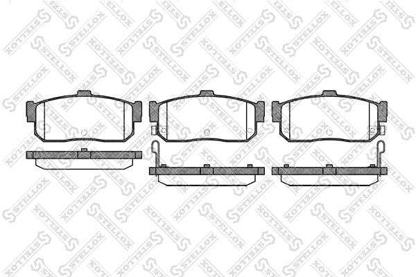 Колодки дисковые, STELLOX, 377012SX
