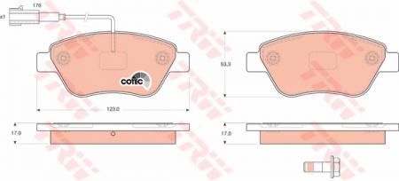 Колодки дисковые Передние, TRW, GDB1590