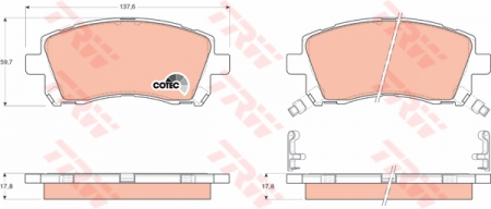 Колодки дисковые Передние, TRW, GDB3217