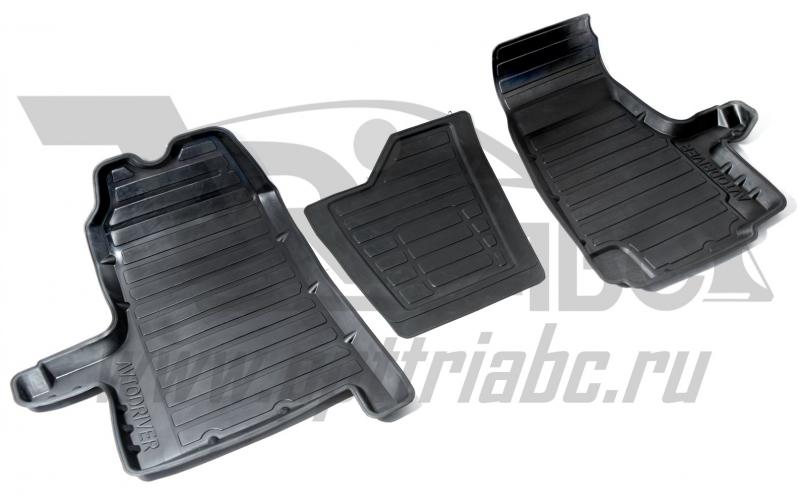 Коврики салона резиновые с бортиком для Ford Transit (2006-2013) (2 передних), ADRAVG138