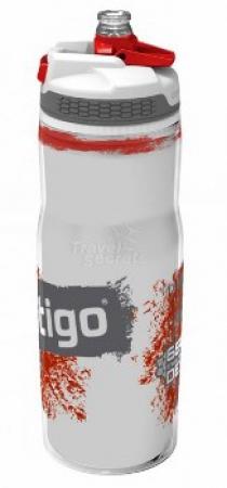 Бутыль для воды Contigo Devon Insulated с носиком легкосжимаемая, бело-красная, 650 мл, 10000187