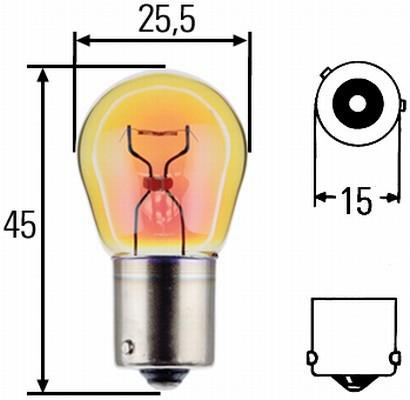 Лампа, 24 В, 21 Вт, PY21W, BAU15s, BOSCH, 1 987 302 703