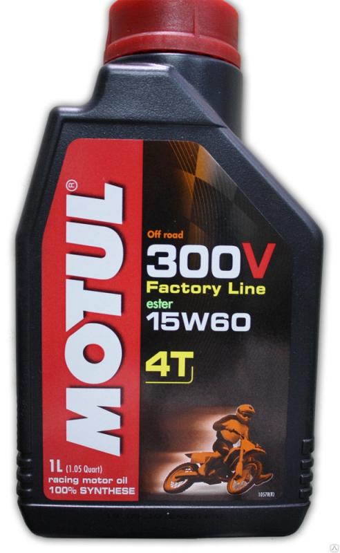 Масло моторное MOTUL 300V 4T Off Road, 15W-60, 1л, 102710