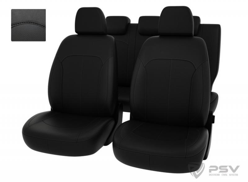 """Чехлы Datsun Mi-Do 14-> черный/отстрочка черная, экокожа, """"Оригинал"""", 125820"""