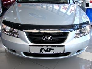 Дефлектор капота Hyundai NF (2006-) (темный), SHYNF0612