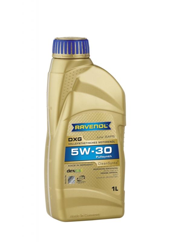Моторное масло RAVENOL DXG, 5W-30, 1л, 4014835732315