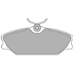 Колодки дисковые, DELPHI, LP1744