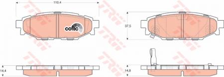 Колодки дисковые Задние, TRW, GDB3373