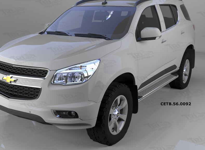 Пороги алюминиевые (Opal) Chevrolet TrailBlazer (2013-), CETB560092