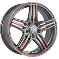 Колесный диск YST X-7 6x15/4x100 D56.1 ET50 черный матовый+красный (MB+R)