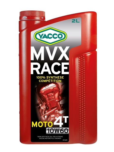 Масло для 4-тактных двигателей спортивных мотоциклов YACCO MVX RACE 4T синт. 10W60, SL (2 л)