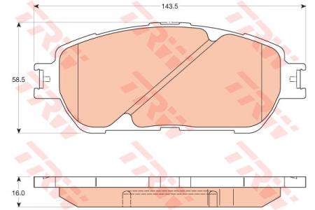 Колодки дисковые Передние, TRW, GDB3610
