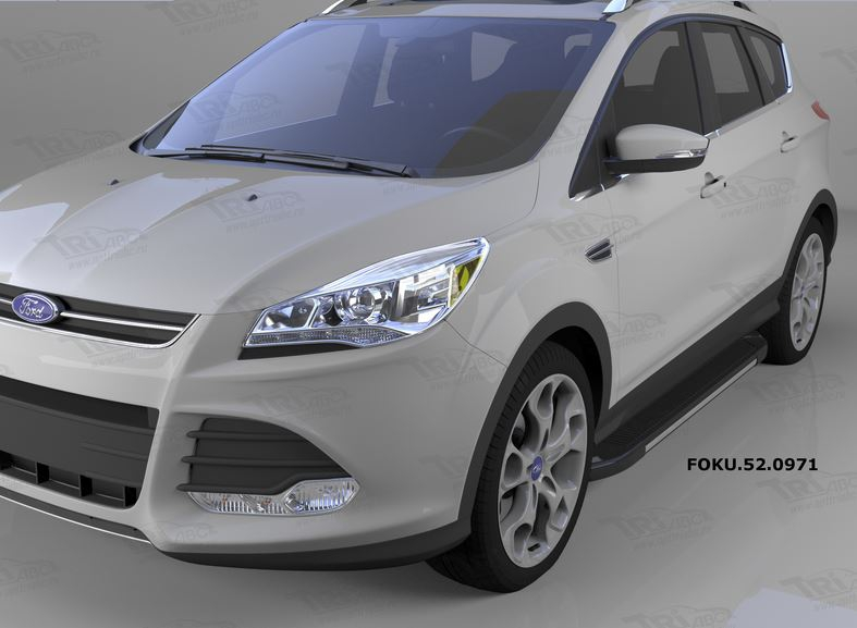 Пороги алюминиевые (Onyx) Ford Kuga (2013-), FOKU520971